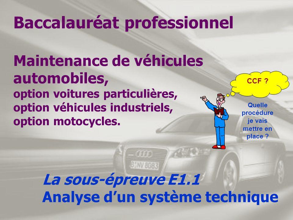 Baccalauréat professionnel Maintenance de véhicules automobiles, option voitures particulières, option véhicules industriels, option motocycles. La so