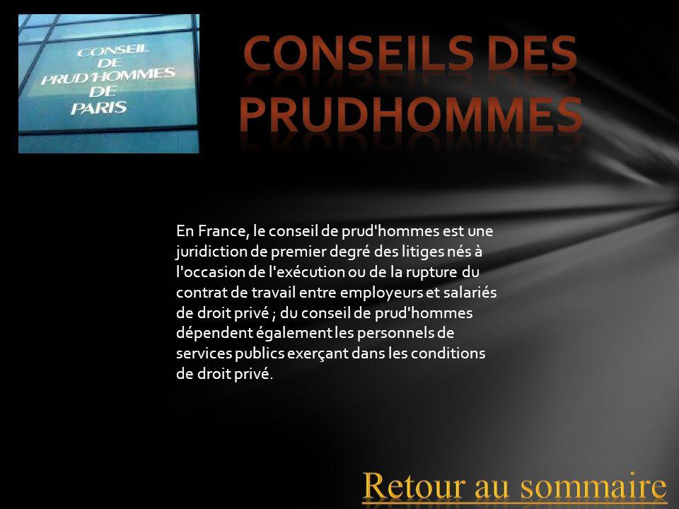 En France, le conseil de prud'hommes est une juridiction de premier degré des litiges nés à l'occasion de l'exécution ou de la rupture du contrat de t