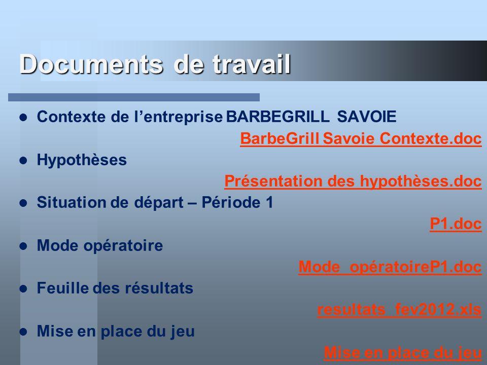Documents de travail Contexte de lentreprise BARBEGRILL SAVOIE BarbeGrill Savoie Contexte.doc Hypothèses Présentation des hypothèses.doc Situation de