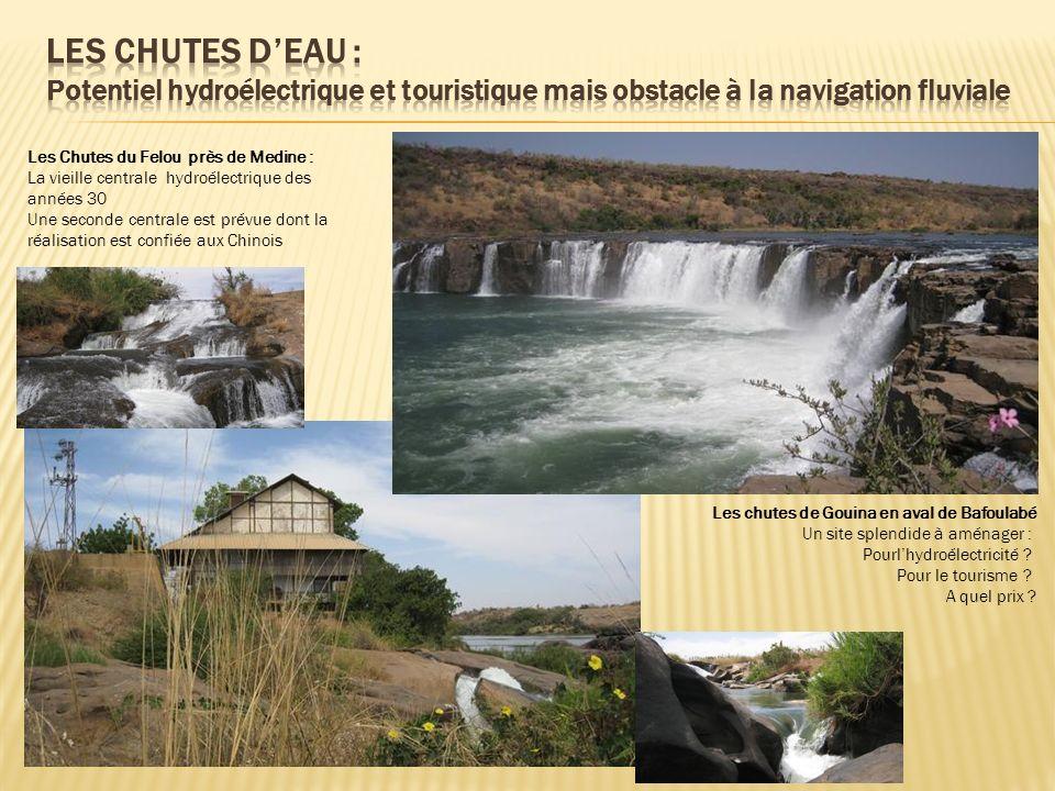 Les chutes de Gouina en aval de Bafoulabé Un site splendide à aménager : Pourlhydroélectricité ? Pour le tourisme ? A quel prix ? Les Chutes du Felou