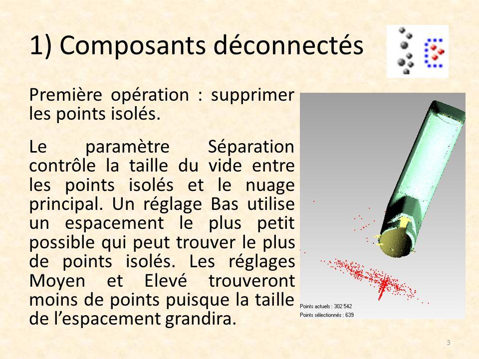 e) Docteur maillage Le Docteur Maillage détecte une grande variété de problèmes et propose divers méthode de réparation.