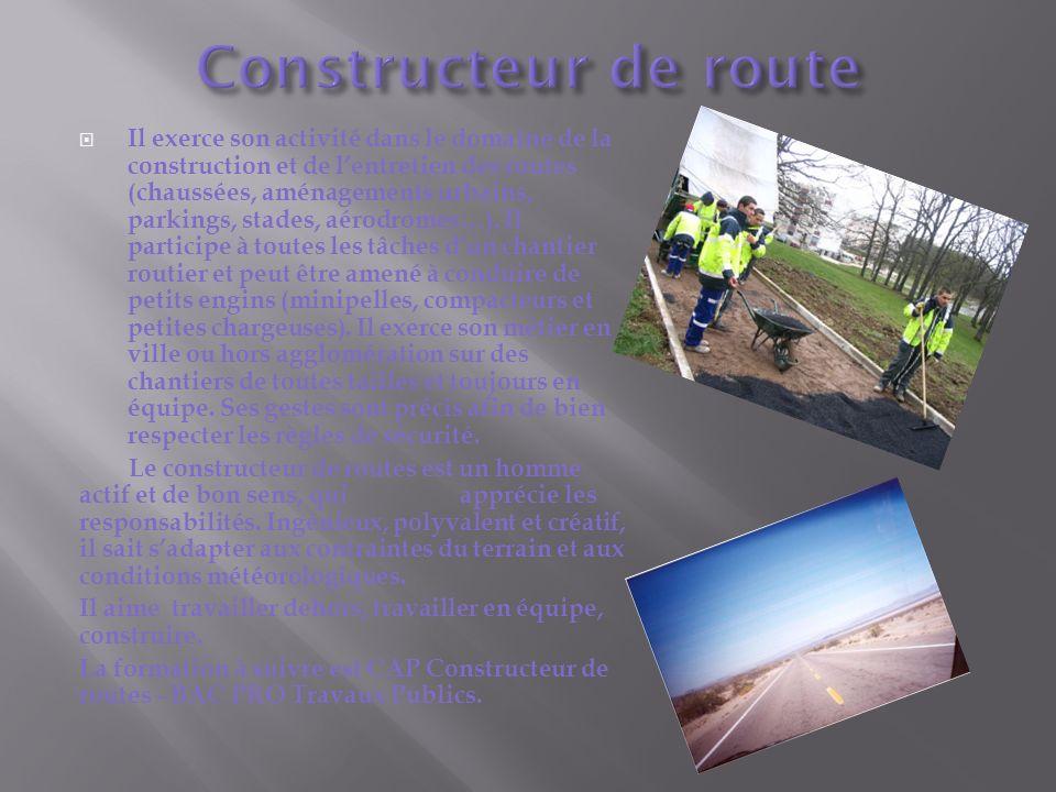 Il exerce son activité dans le domaine de la construction et de lentretien des routes (chaussées, aménagements urbains, parkings, stades, aérodromes…).