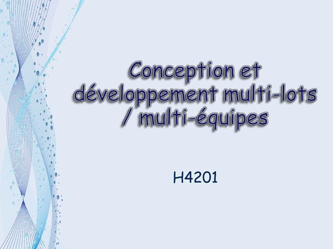 I - Introduction II - Description des lots III - Intégration et tests IV - Bilan