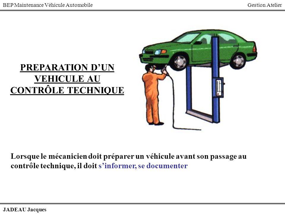 BEP Maintenance Véhicule AutomobileGestion Atelier JADEAU Jacques 2 1 2,5 Rotules de direction Passage à la station de train avant Main doeuvre 24,549 3030 2767,5 146,5 28,71 175,21