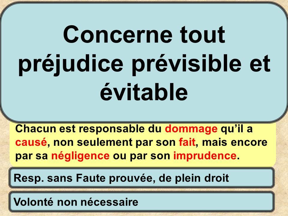 Définie par trois articles principaux du code civil La responsabilité civile délictuelle Art 1383 du CC Chacun est responsable du dommage quil a causé
