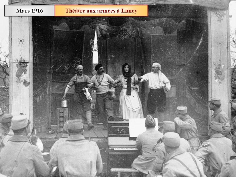 Mars 1916 Lheure de la soupe à Limey