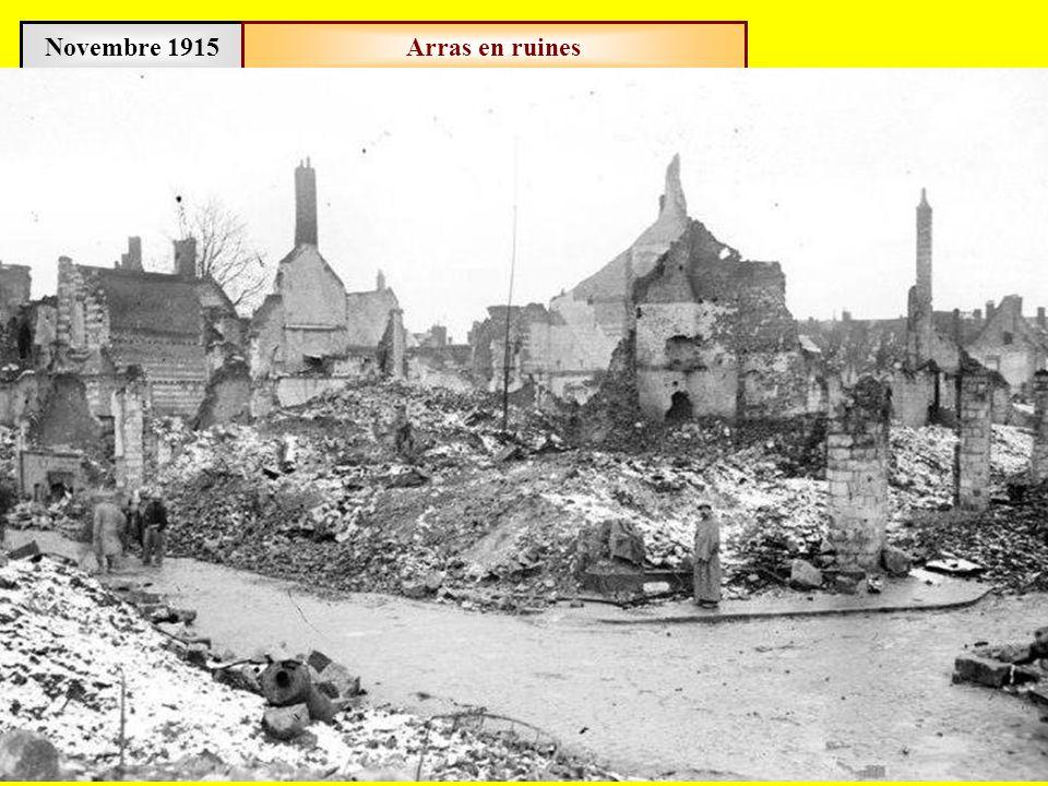 Novembre 1915 Arras en ruines