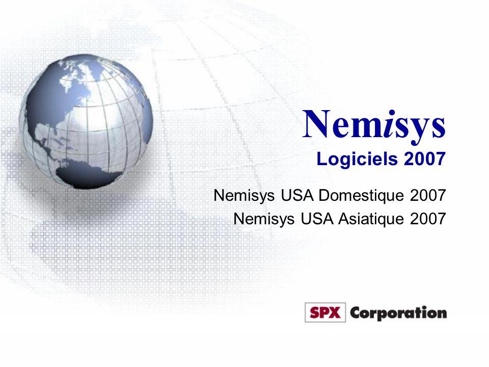 Nemisys Logiciels 2007 Nemisys USA Domestique 2007 Nemisys USA Asiatique 2007