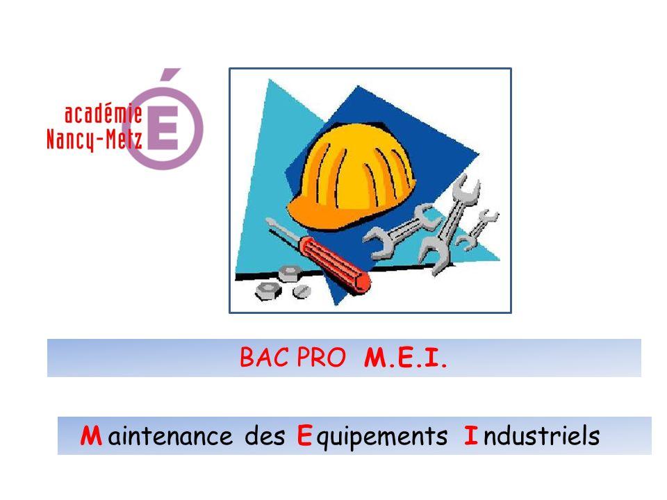 aintenance des quipements ndustriels BAC PRO M.E.I. IEM
