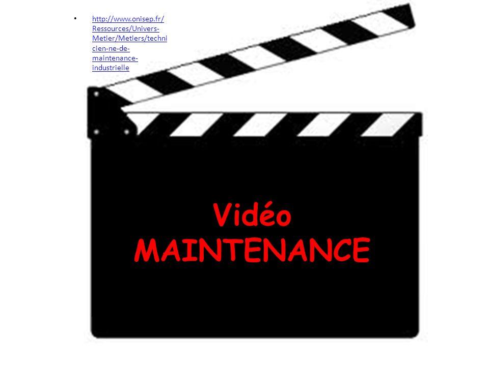 http://www.onisep.fr/ Ressources/Univers- Metier/Metiers/techni cien-ne-de- maintenance- industrielle http://www.onisep.fr/ Ressources/Univers- Metier