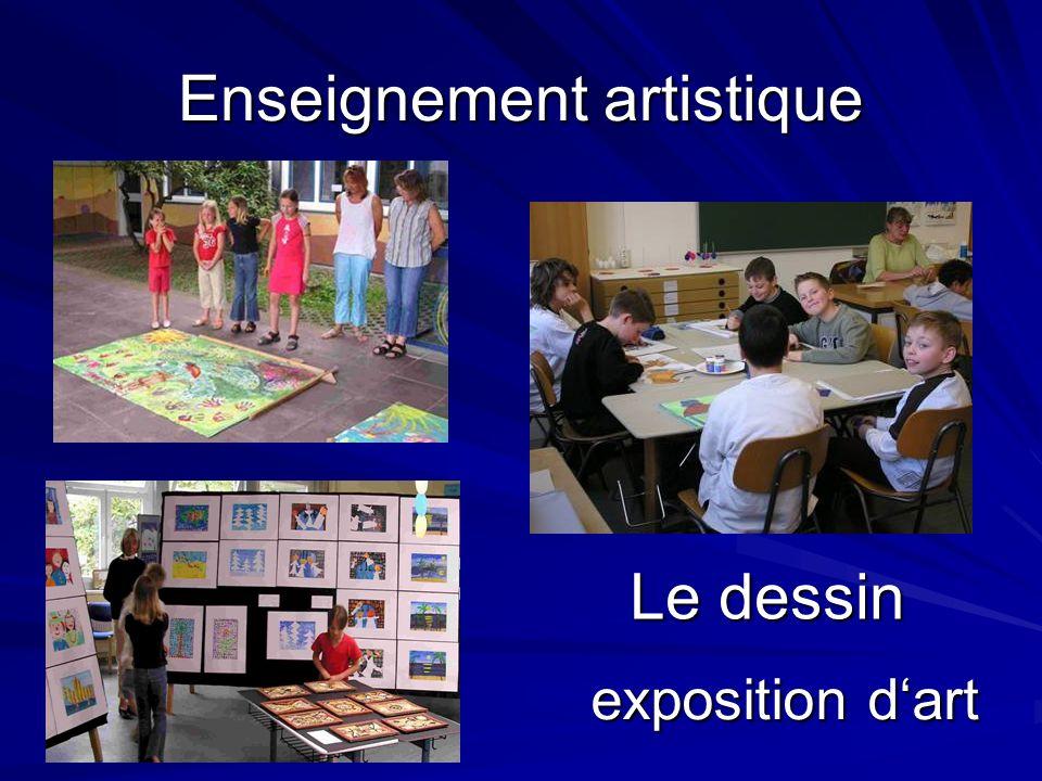 Enseignement artistique Le dessin exposition dart