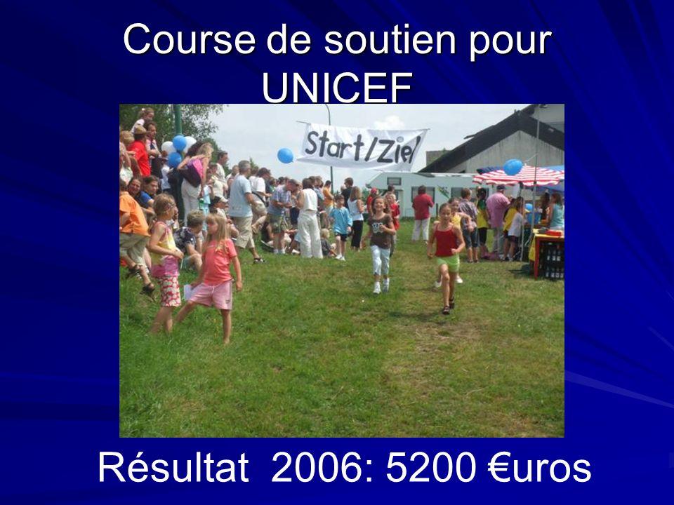 Course de soutien pour UNICEF Résultat 2006: 5200 uros