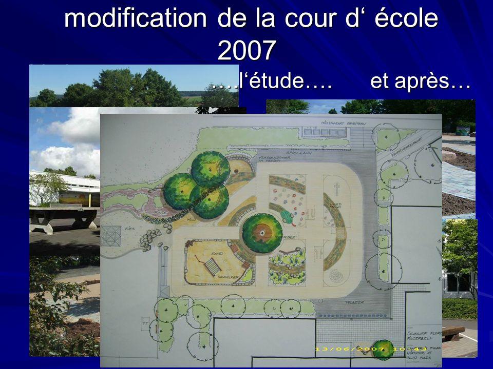 modification de la cour d école 2007 modification de la cour d école 2007 Vorher… et après… ….létude….
