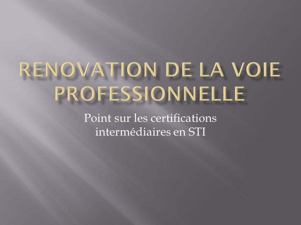 Point sur les certifications intermédiaires en STI