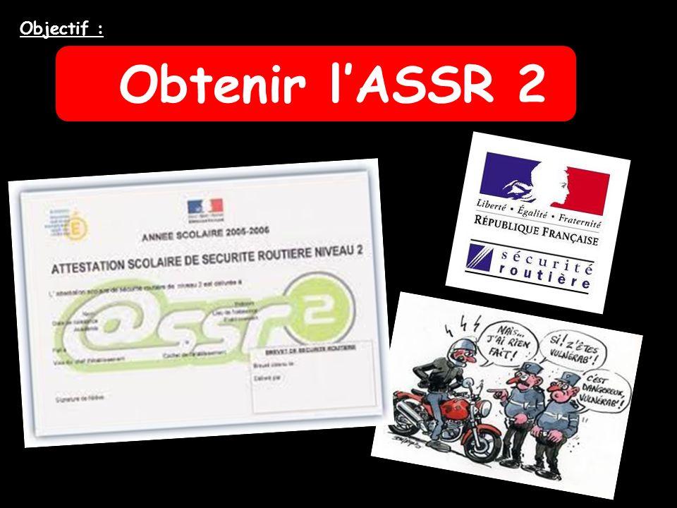 Obtenir lASSR 2 Objectif :