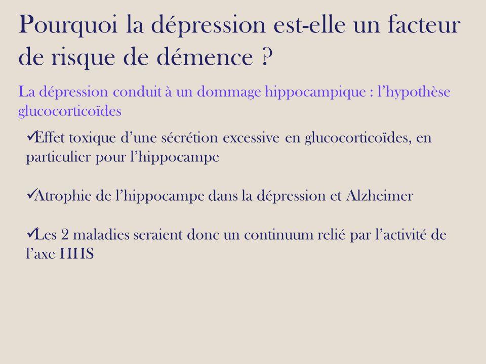 Pourquoi la dépression est-elle un facteur de risque de démence .