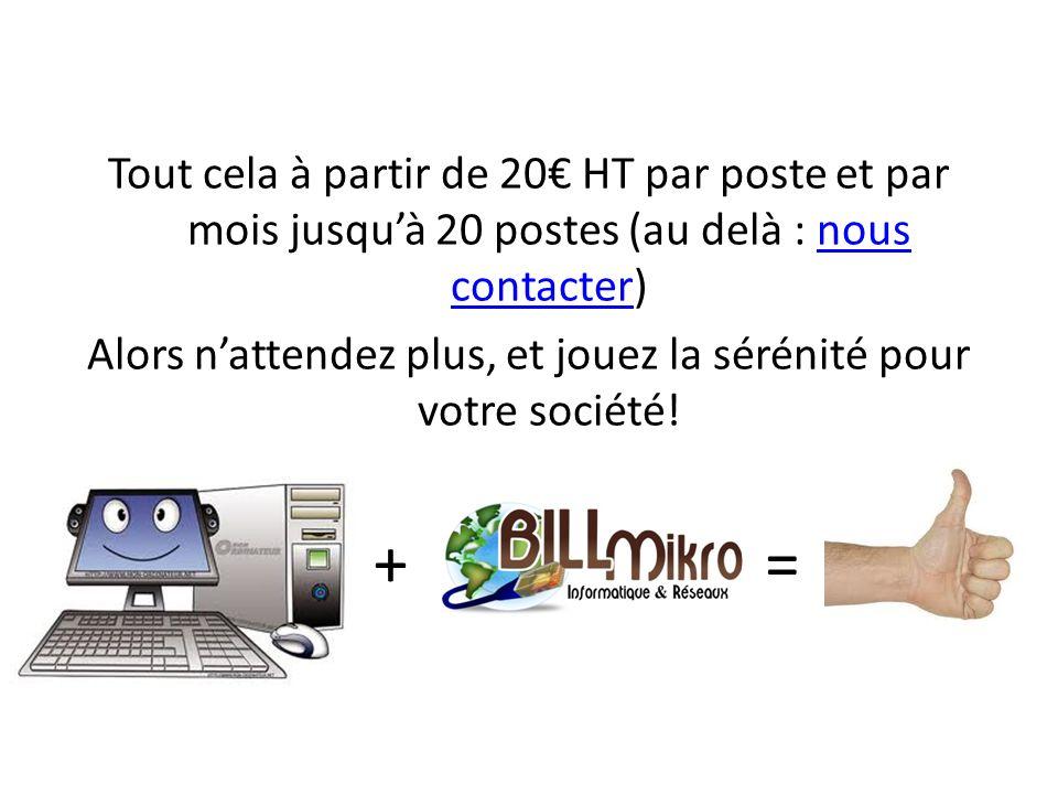 Contact : Bill Mikro 16 Bis Route de Béthune 62160 Aix Noulette Fabrice Ostrowski Network & Architecture IT fabrice@bill-mikro.com Tel : 03 21 29 73 58 Mobile : 06 84 22 66 47