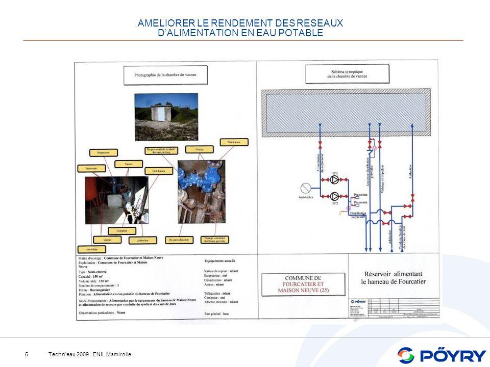 Techn'eau 2009 - ENIL Mamirolle5 AMELIORER LE RENDEMENT DES RESEAUX DALIMENTATION EN EAU POTABLE