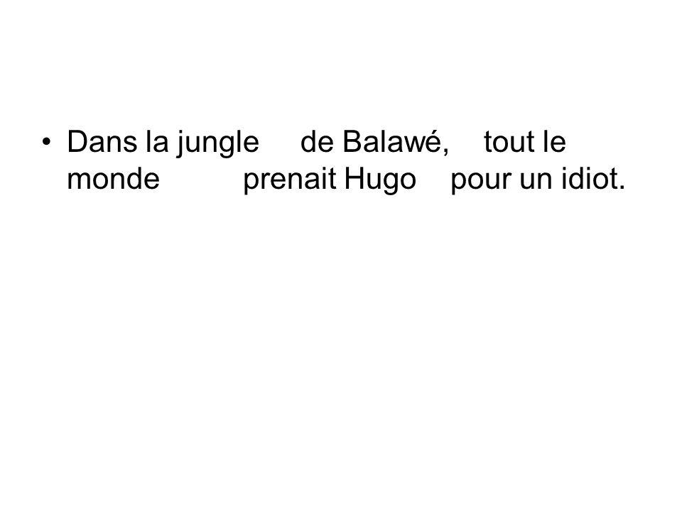 Dans la jungle de Balawé, tout le monde prenait Hugo pour un idiot.