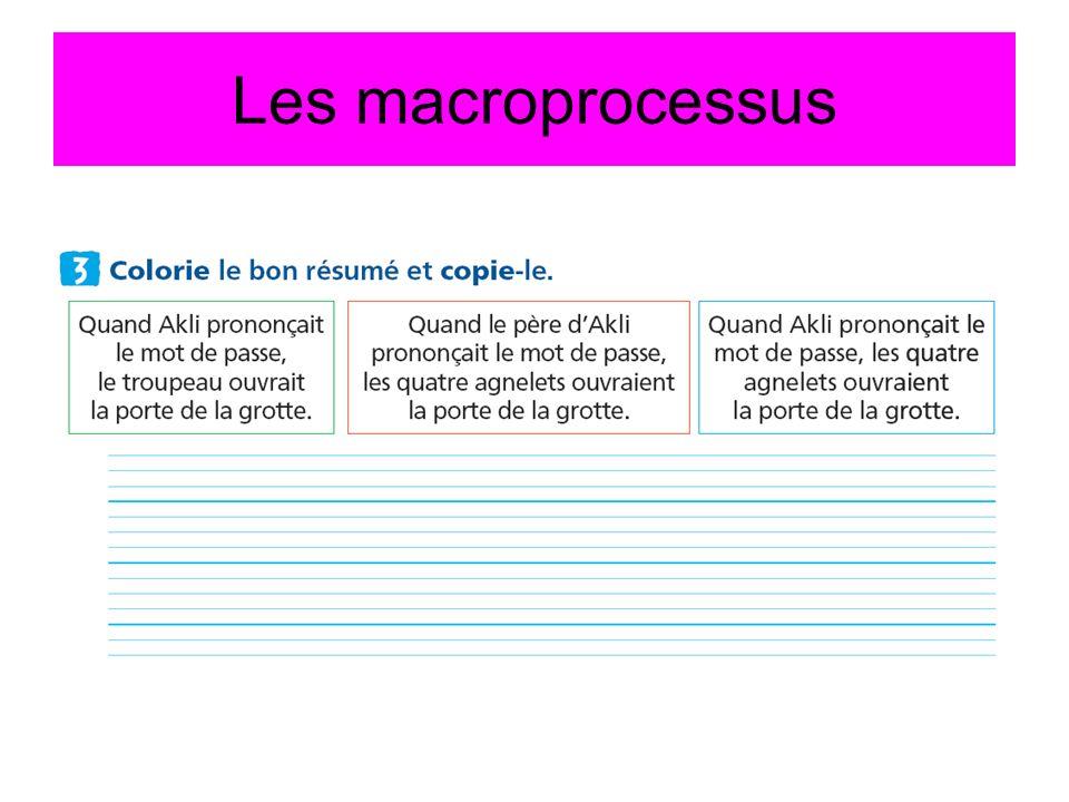 Les macroprocessus