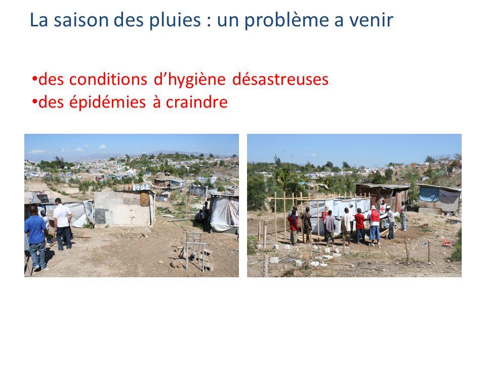 La saison des pluies : un problème a venir des conditions dhygiène désastreuses des épidémies à craindre