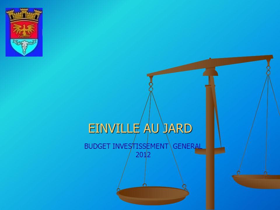 EINVILLE AU JARD BUDGET INVESTISSEMENT GENERAL 2012