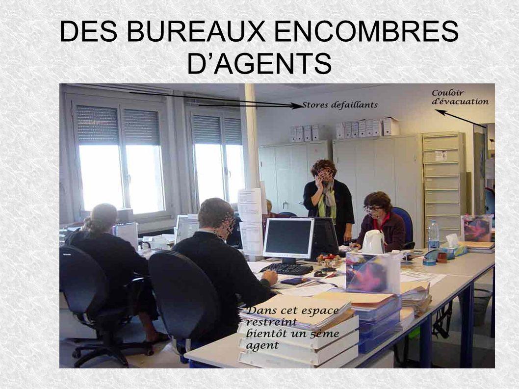 DES BUREAUX ENCOMBRES DAGENTS
