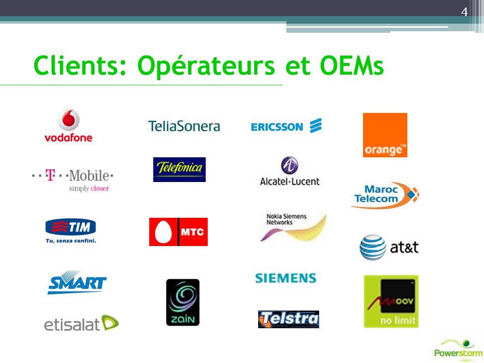 Clients: Opérateurs et OEMs 4
