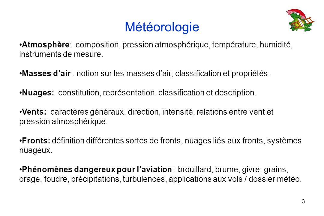 Météorologie Atmosphère: composition, pression atmosphérique, température, humidité, instruments de mesure. Masses dair : notion sur les masses dair,