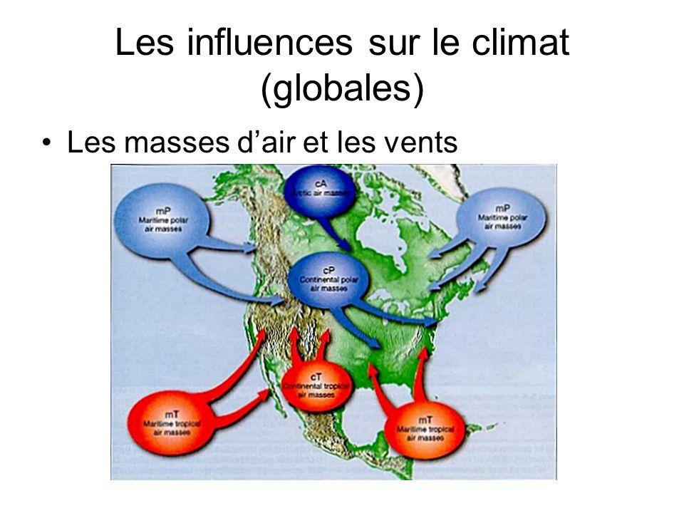 Les influences sur le climat (globales) Les courants marins