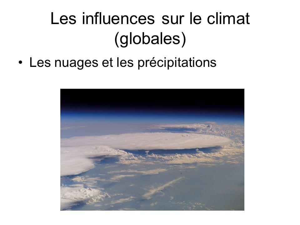 Les influences sur le climat (globales) Les nuages et les précipitations