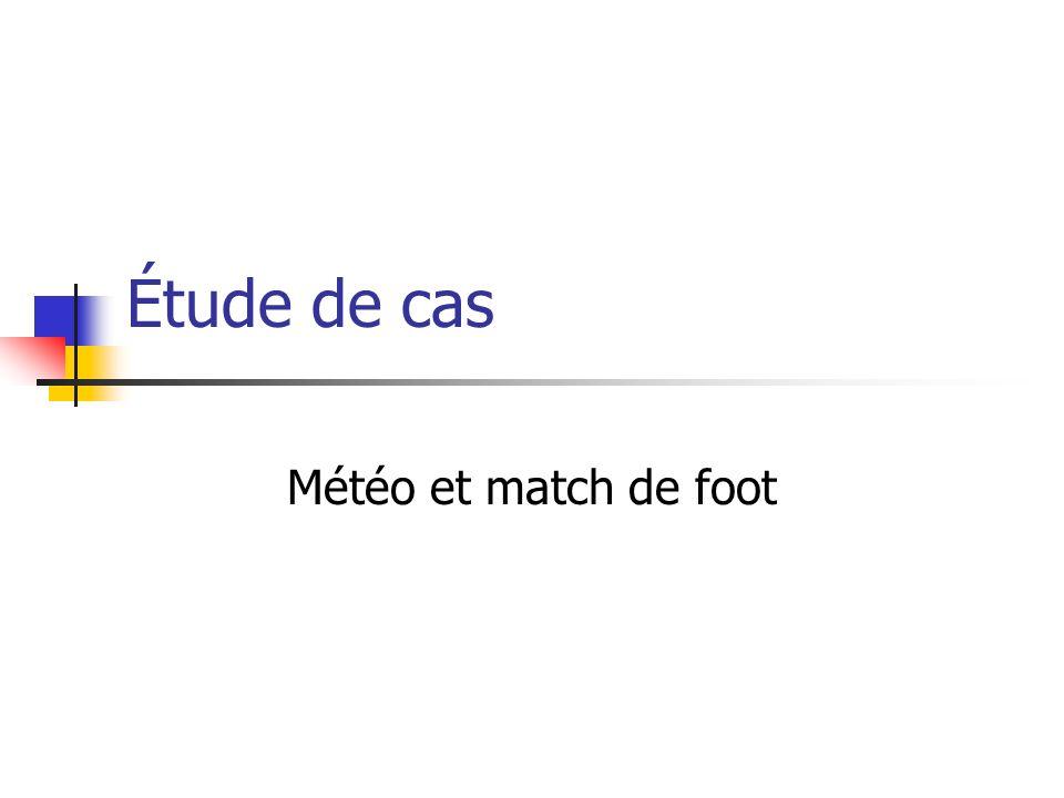 Étude de cas Météo et match de foot