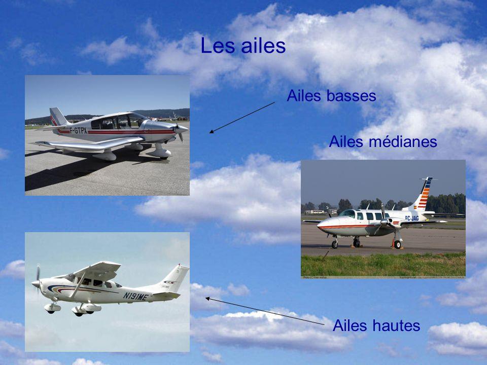 Les ailes Ailes basses Ailes hautes Ailes médianes