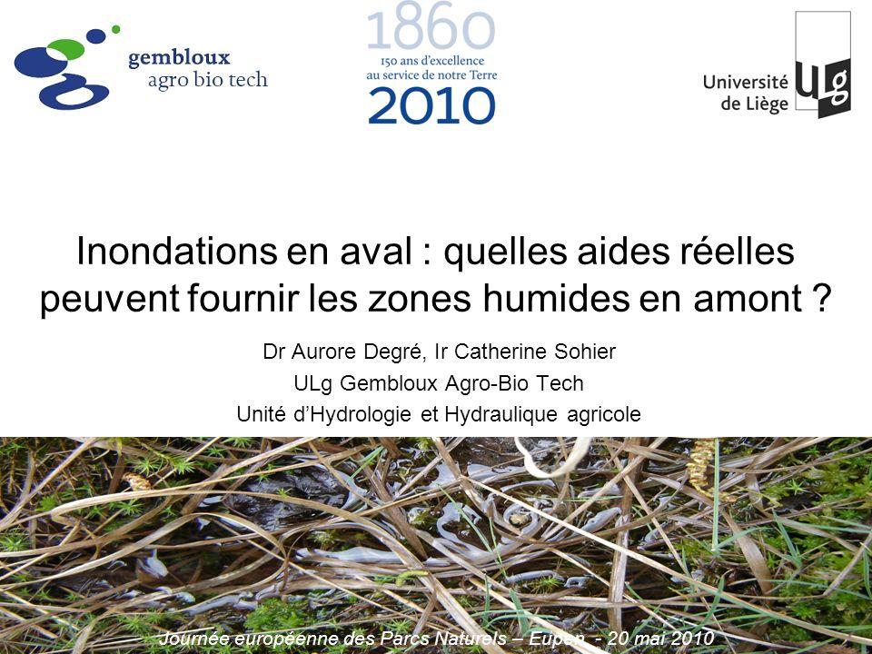 Unité dHydrologie et Hydraulique agricole Gembloux Agro-Bio Tech, ULg aurore.degre@ulg.ac.be www.fsagx.ac.be/ha