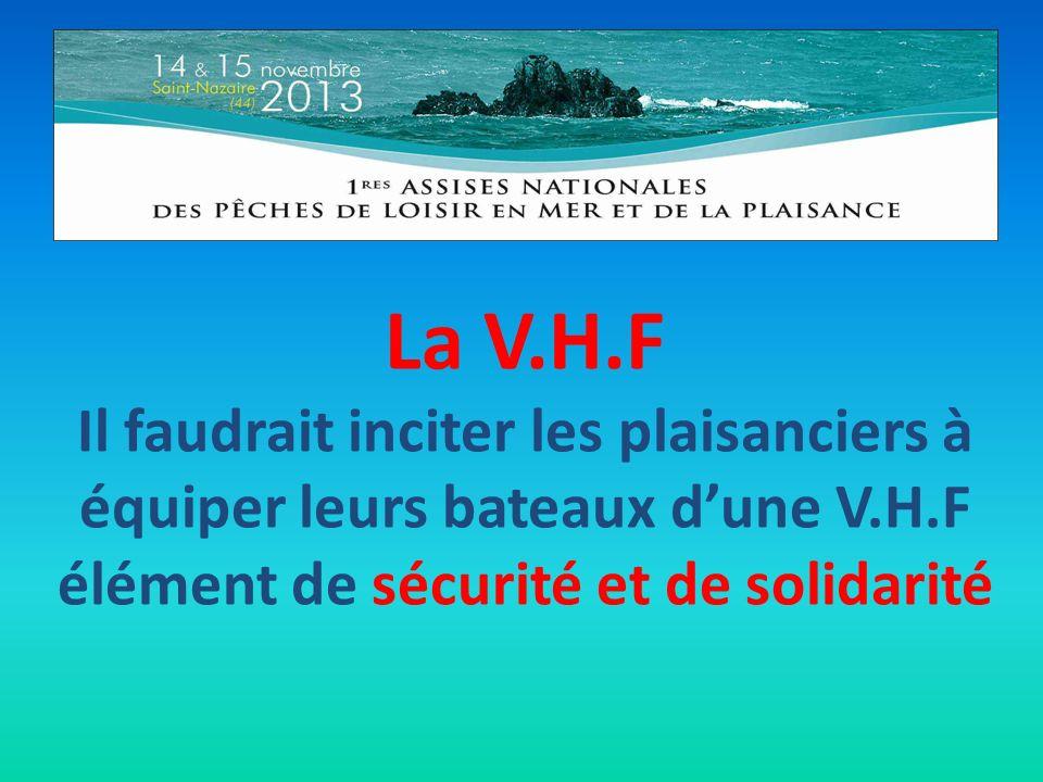 La V.H.F Il faudrait inciter les plaisanciers à équiper leurs bateaux dune V.H.F élément de sécurité et de solidarité