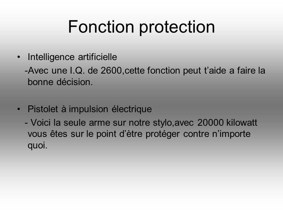 Fonction protection Intelligence artificielle -Avec une I.Q.