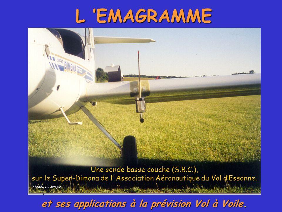 L EMAGRAMME et ses applications à la prévision Vol à Voile. Cliché J.P. Lartigue Une sonde basse couche (S.B.C.), sur le Super-Dimona de l Association