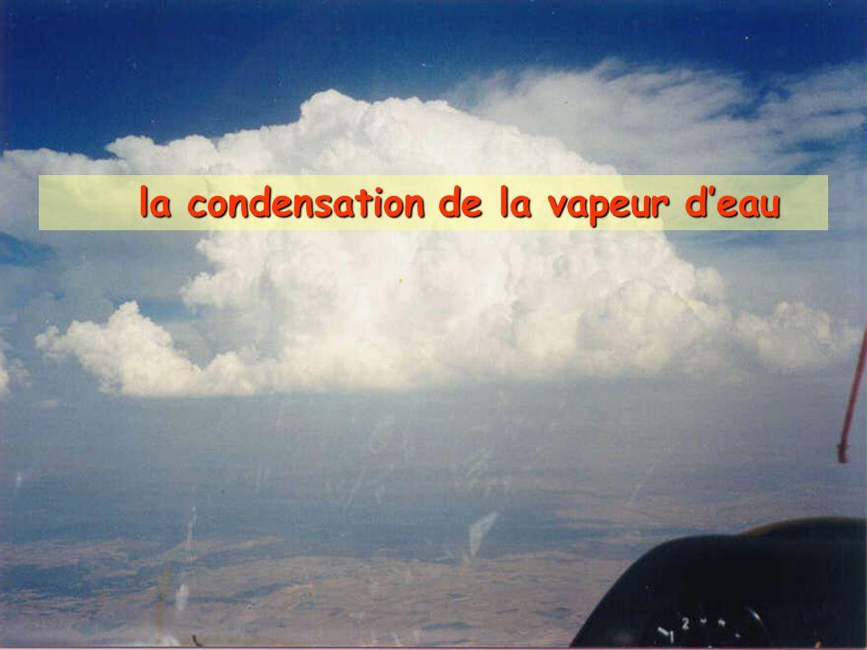 la condensation de la vapeur deau