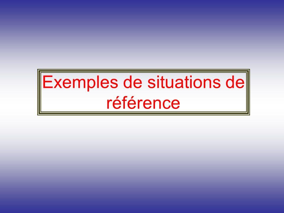 Exemples de situations de référence