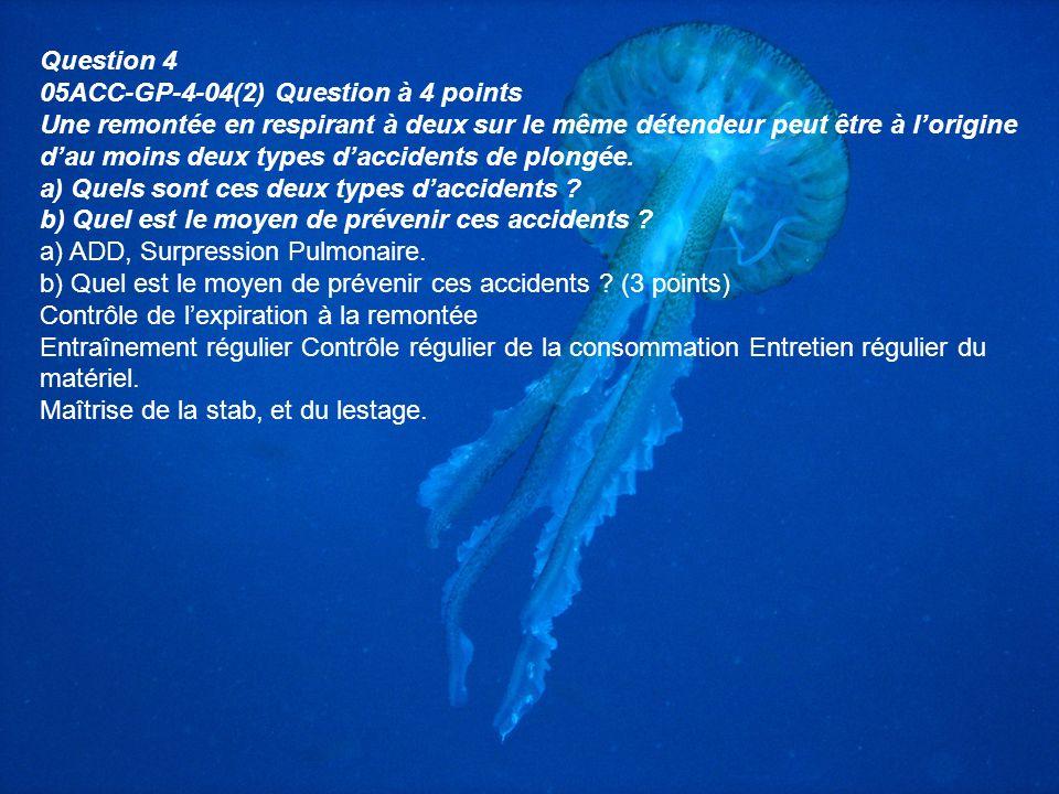 S'il n'y avait que quelques points à retenir Il y a 4 causes essentielles à lADD : -La plongée profonde (> 35-40m). -Le non respect de la vitesse de r