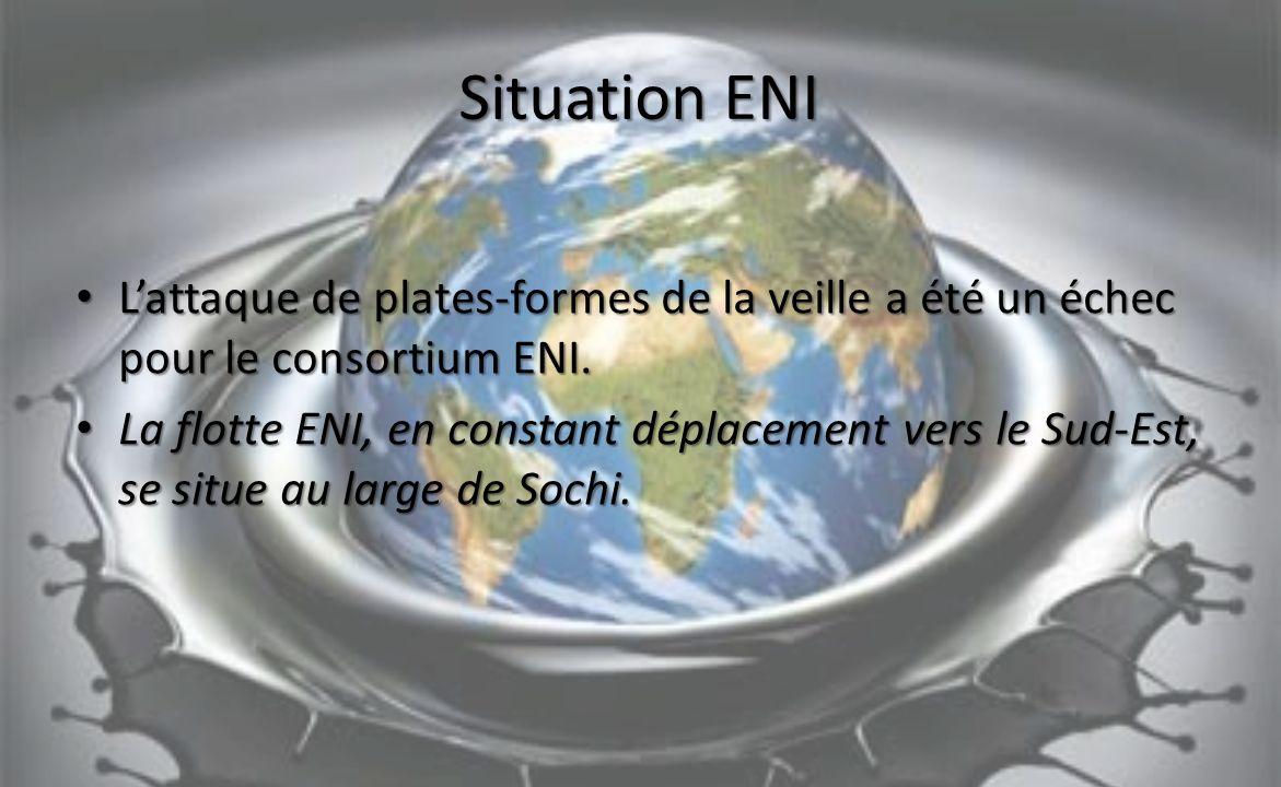 Situation ENI Lattaque de plates-formes de la veille a été un échec pour le consortium ENI.