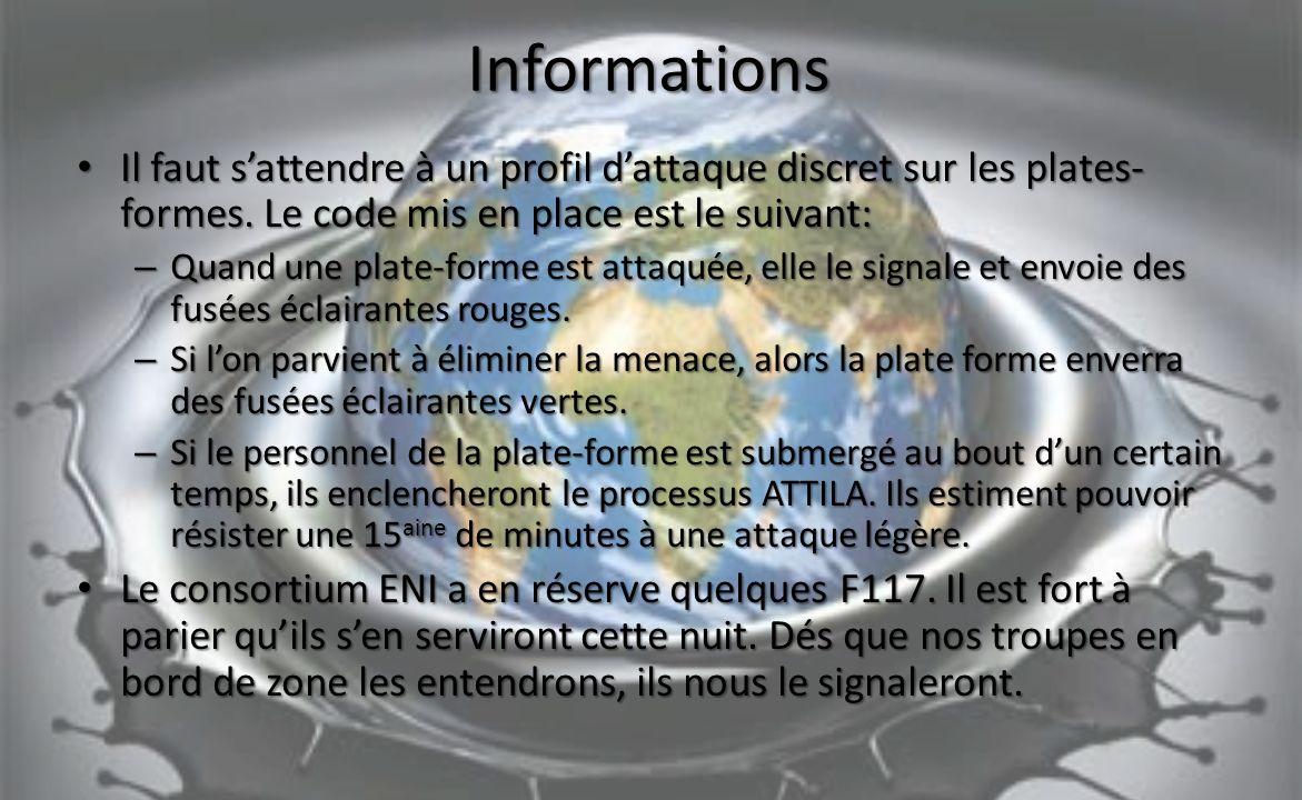 Informations Il faut sattendre à un profil dattaque discret sur les plates- formes.