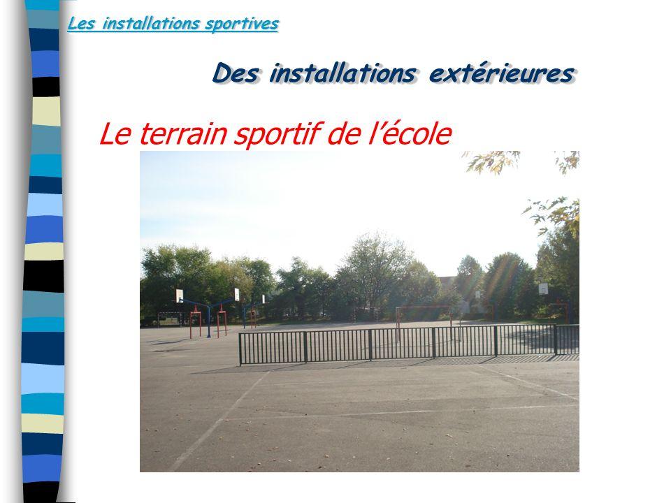 Les installations sportives Le terrain sportif de lécole Des installations extérieures