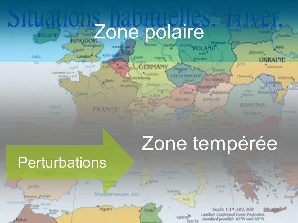 Zone polaire Zone tempérée Perturbations