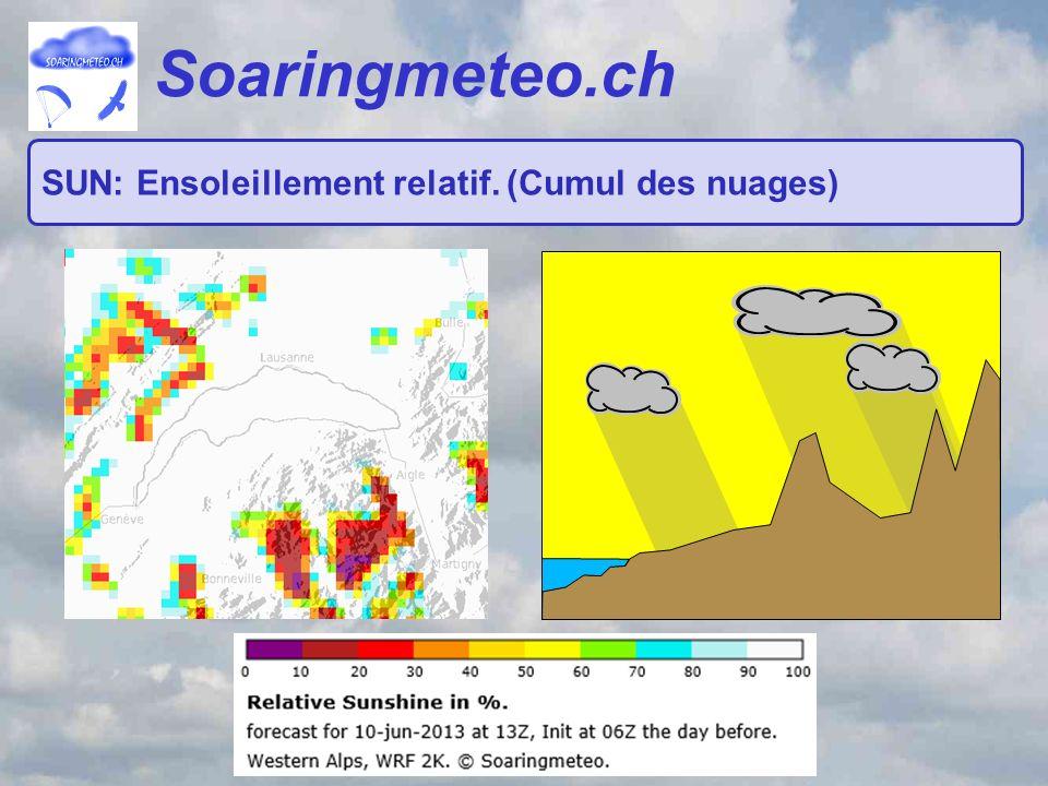 Soaringmeteo.ch SUN: Ensoleillement relatif. (Cumul des nuages)