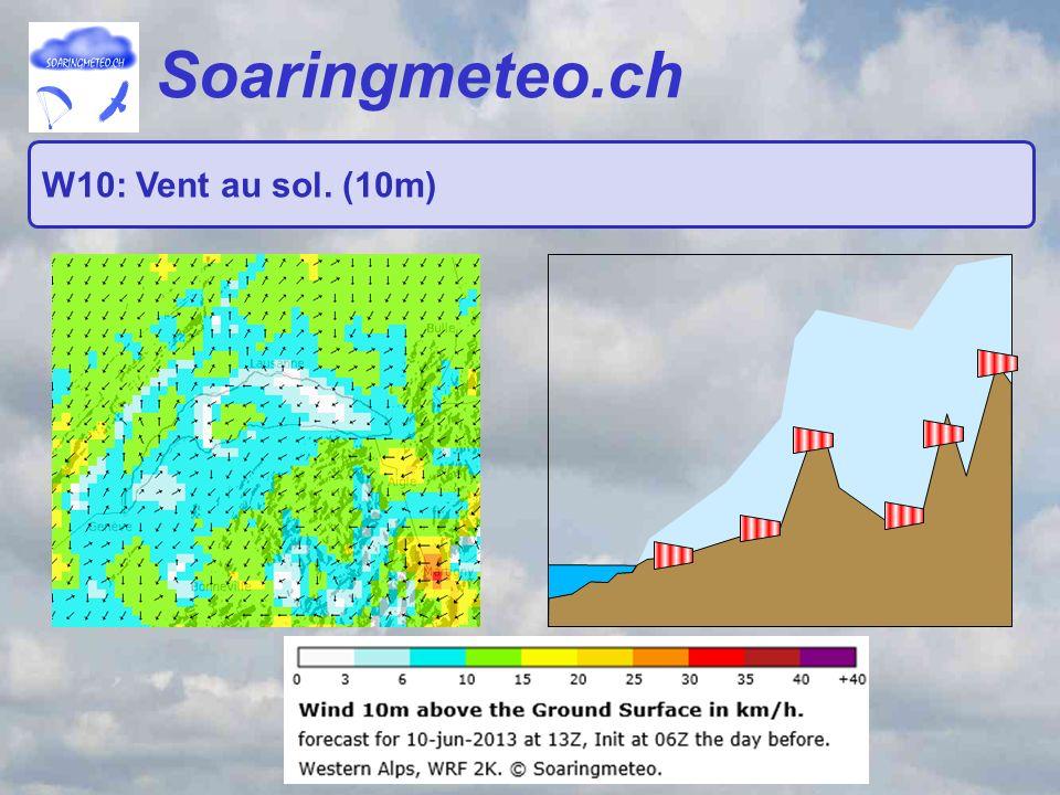 Soaringmeteo.ch W10: Vent au sol. (10m)