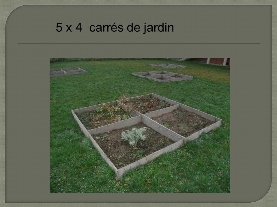 5 x 4 carrés de jardin
