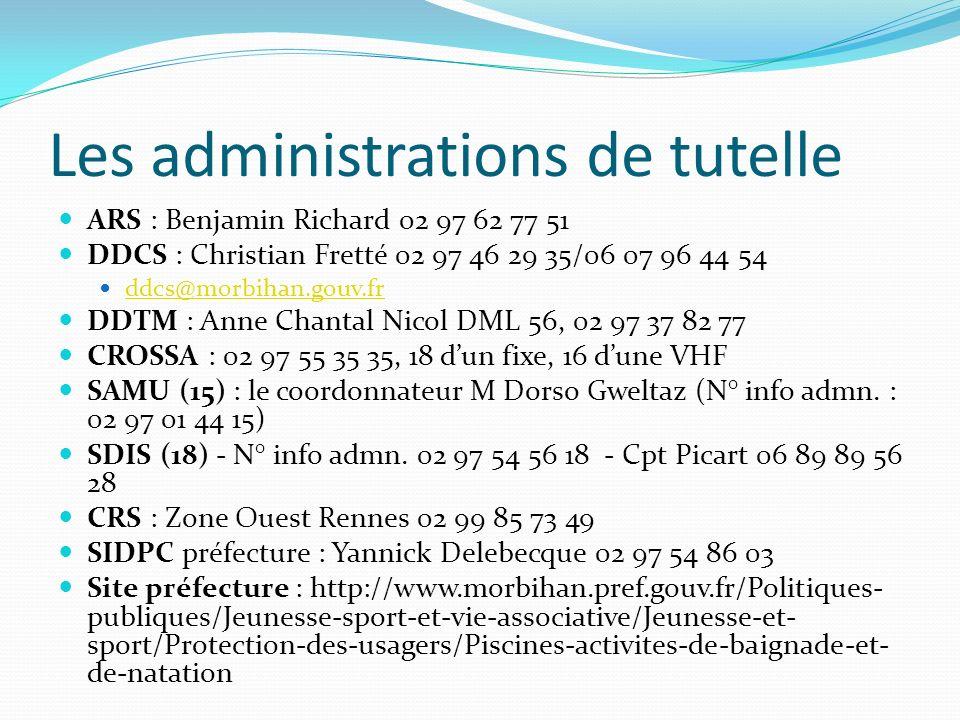 Les administrations de tutelle ARS : Benjamin Richard 02 97 62 77 51 DDCS : Christian Fretté 02 97 46 29 35/06 07 96 44 54 ddcs@morbihan.gouv.fr DDTM