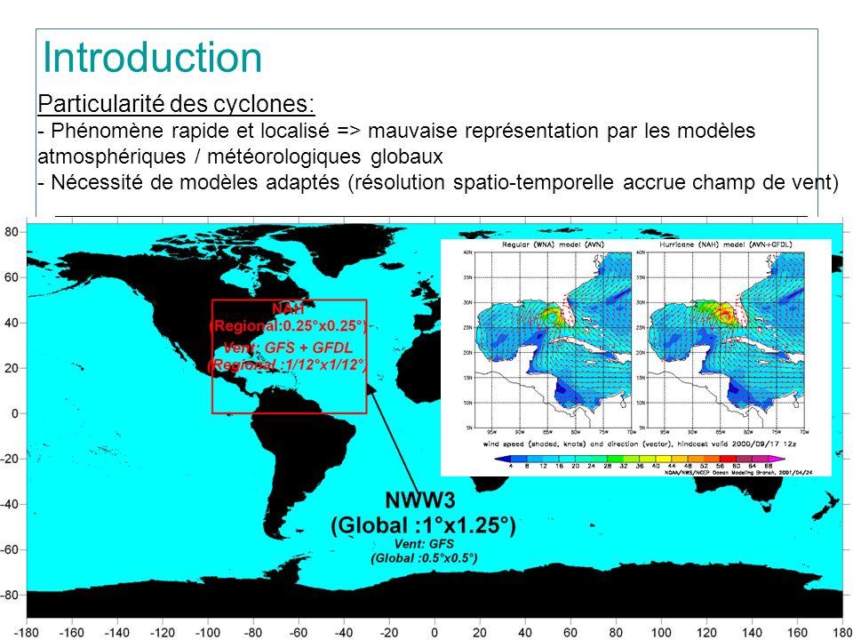 > 3 ???? Introduction Particularité des cyclones: - Phénomène rapide et localisé => mauvaise représentation par les modèles atmosphériques / météorolo