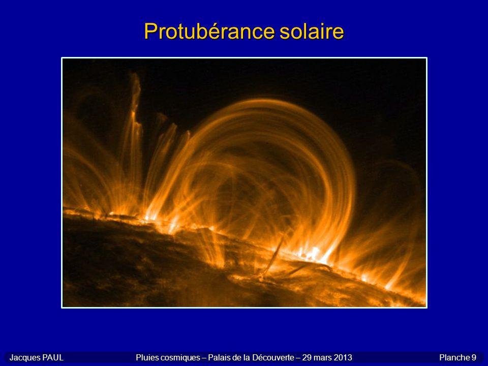 Planche 9Jacques PAULPluies cosmiques – Palais de la Découverte – 29 mars 2013 Protubérance solaire